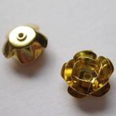 12mm forgyldte rose perler, 4 stk-20