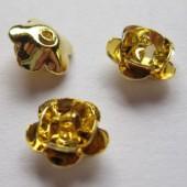 8mm forgyldte rose perler, 6 stk-20