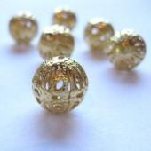 12mm forgyldte filigran perler, 4 stk-20