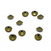 5x3mm antik forgyldte perler, 10 stk-20