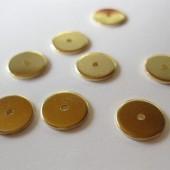 flade guldbelagte rondeller