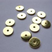 8mm forgyldte flade rondeller, 20 stk-20