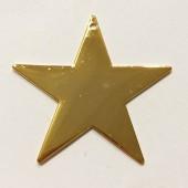 stor guld stjerne vedhæng