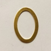 Guldbelagt oval