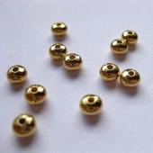 4,5x3,2mm glatte mellemleds perler, 20 stk-20