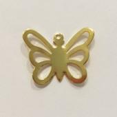 Guld sommerfugle vedhæng