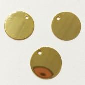15mm guldbelagt mønt vedhæng