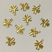 Guld kløver vedhæng