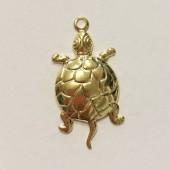 guldbelagt skildpadde vedhæng