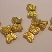 10x6mm forgyldte sommerfugle perler, 5 stk-20