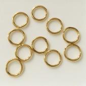 8mm lukkede guld øskner