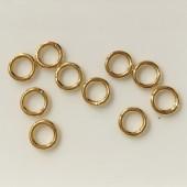 5mm lukkede øskner, guldfarvede 10 stk-20