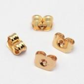 guld stoppere til øreringe
