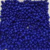 8/0 Glas seed beads, blå 2-3mm, 10g-20