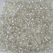 8/0 Glas seed beads, clear 2-3mm, 10g-20