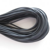 2mm hul gummi, sort 10m-20