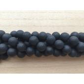 12mm matte sorte perler