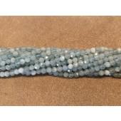 3mm aquamarin perler