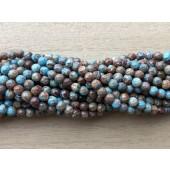 3mm facet efterårs jaspis perler