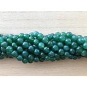 8mm facetslebne grønne agat perler