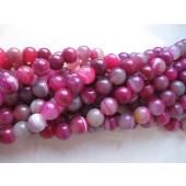stribet agat 12mm perler