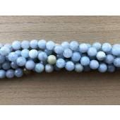 8mm facetslebet aquamarin perler