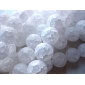 8mm krakkeleret mat krystal perler