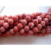 Rød svampekoral, rund 16mm-20