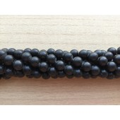 10mm matte sorte perler