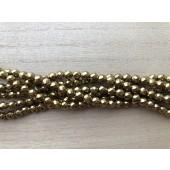 6mm guldfarvet hæmatit perler