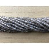 facetslebne runde grå agat perler 4mm