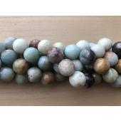 18mm facetslebet amazonit perler