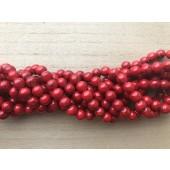 8mm røde perler