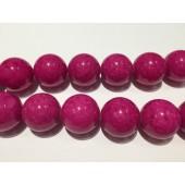 Farvet jade, rubin, rund 20mm-20