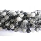perler af sort rutil kvarts