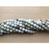 matte amazonit perler
