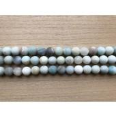 10mm matte amazonit perler