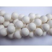 Hvid svampekoral, rund 18mm-20