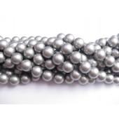 8mm sølv-grå shell perler