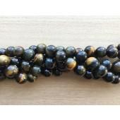 blå tigerøje perler