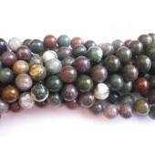 12mm perler af fansy jaspis