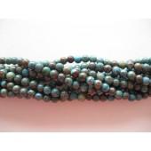 4mm blå efterårs jaspis perler