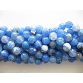 blå ild agat perler
