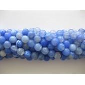 10mm facet blå ild agat perler