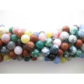 multifarvet ild agat perler