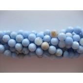 lys blå agat perler