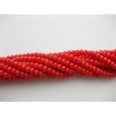 orange røde koral perler