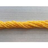3mm facet gule perler
