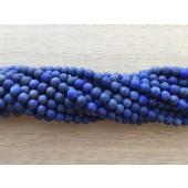 4mm matte lapis lazuli perler