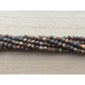 4mm mat tigerøje perler